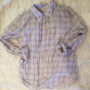 American Eagle sheer button down shirt
